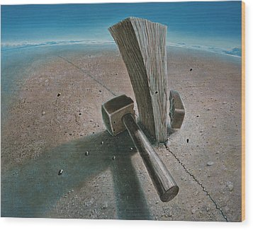The Failure Wood Print by De Es Schwertberger