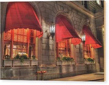 Wood Print featuring the photograph The Fairmont Copley Plaza Hotel - Boston by Joann Vitali