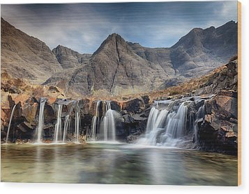 Wood Print featuring the photograph The Fairy Pools - Isle Of Skye 3 by Grant Glendinning