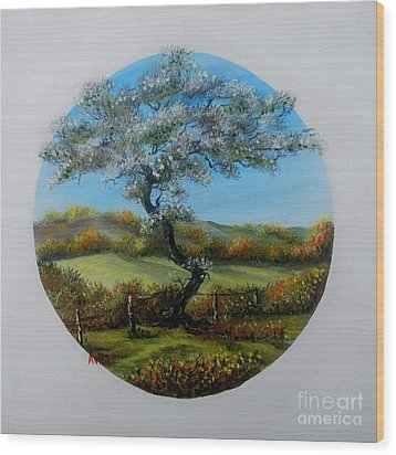 The Fairy Tree Wood Print by Avril Brand
