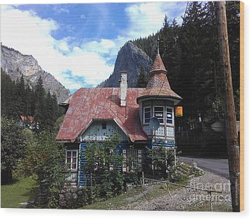 The Fairy Tale House  Wood Print