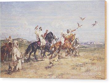 The Falcon Chase Wood Print by Henri Emilien Rousseau