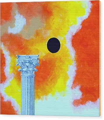 The Fall Of Rome Wood Print