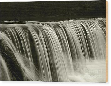 The Falls Wood Print by Timothy Johnson