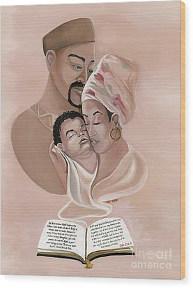 The Family Wood Print by Toni  Thorne