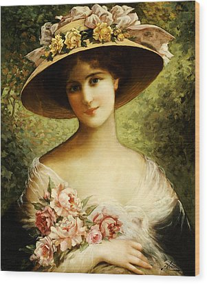 The Fancy Bonnet Wood Print by Emile Vernon