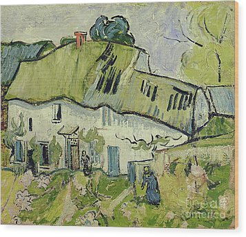 The Farm In Summer Wood Print by Vincent van Gogh