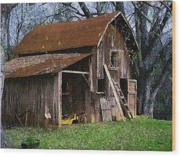 The Farm Wood Print by Teresa Mucha