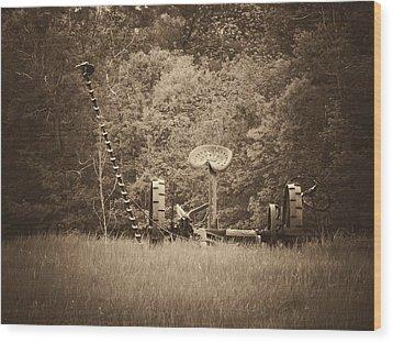 A Farmer's Field Wood Print