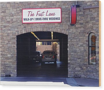 The Fast Lane 2 Wood Print by Bruce Iorio