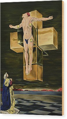 The Father Is Present -after Dali- Wood Print