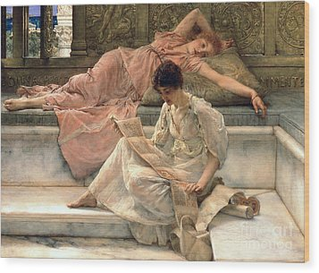 The Favourite Poet Wood Print by Sir Lawrence Alma-Tadema