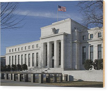 The Federal Reserve In Washington Dc Wood Print by Brendan Reals