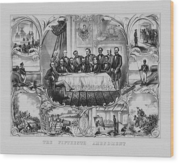 The Fifteenth Amendment  Wood Print by War Is Hell Store