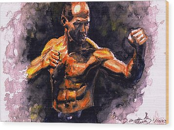 The Fighter.  D Wood Print