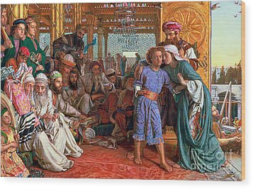 The Finding Of The Savior In The Temple Wood Print by William Holman Hunt