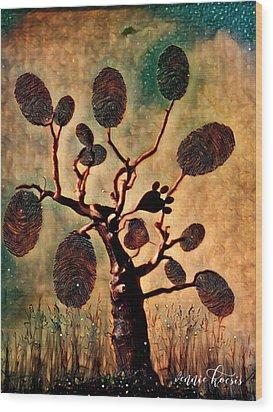 The Fingerprints Of Time Wood Print