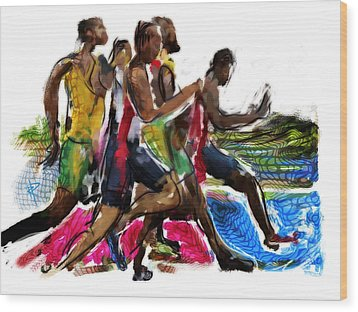 The Finish Line Wood Print