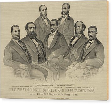 The First African American Senator Wood Print by Everett