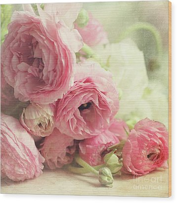 Wood Print featuring the photograph The First Bouquet by Sylvia Cook