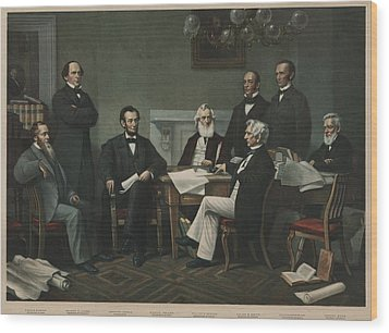 The First Reading Of The Emancipation Wood Print by Everett
