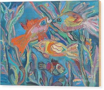 The Fish Wood Print by Marlene Robbins
