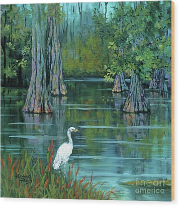 The Fisherman Wood Print by Dianne Parks