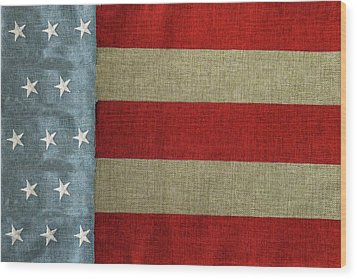 Wood Print featuring the photograph The Flag by Tom Prendergast