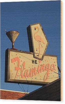 The Flamingo Wood Print by Troy Montemayor