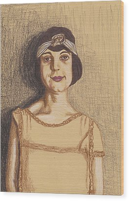 The Flapper Wood Print by Jean Haynes