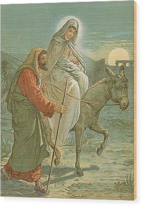 The Flight Into Egypt Wood Print by John Lawson