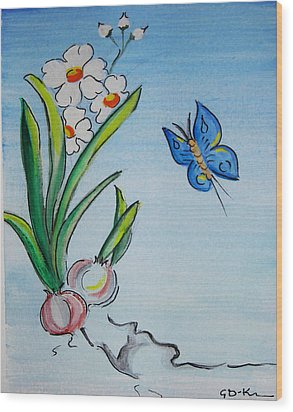 The Flight Of The Butterfly Wood Print