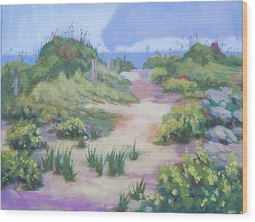 The Flip-flop Path To Paradise Wood Print by Carol Strickland