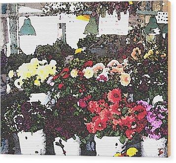 The Flower Market Wood Print by James Johnstone