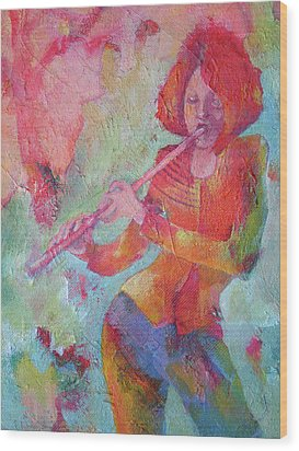 The Flute Player Wood Print by Susanne Clark