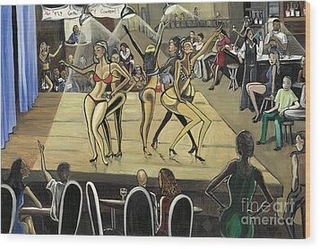The Fly Girl Beauty Contest Wood Print by Toni  Thorne