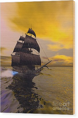 The Flying Dutchman Wood Print by Corey Ford