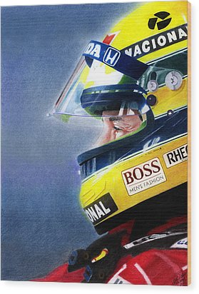 The Focus Of Ayrton Wood Print by Lyle Brown
