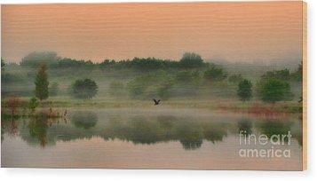 The Fog Of Summer Wood Print