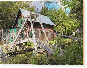 Wood Print featuring the photograph The Footbridge At Palmer Point by David Patterson