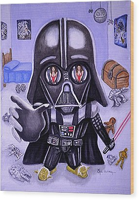 The Force Is Strong With This One Wood Print by Al  Molina