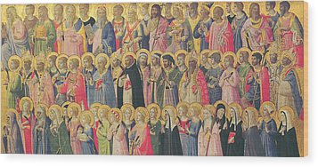 The Forerunners Of Christ With Saints And Martyrs Wood Print by Fra Angelico