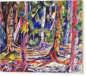 The Forest Before The Trees Wood Print by Patricia Bigelow