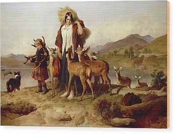 The Forester's Family Wood Print by Sir Edwin Landseer