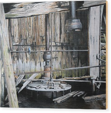 The Forgotten Mill Wood Print by Duncan  Way