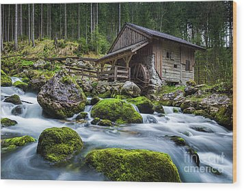 The Forgotten Mill Wood Print by JR Photography