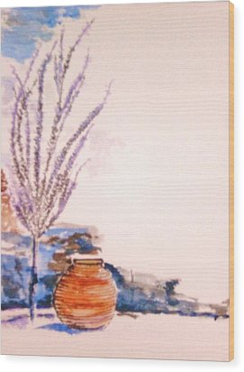 Wood Print featuring the painting The Forgotten Urn by Helena Bebirian
