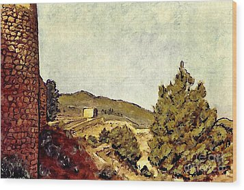 The Fort In Lorca Wood Print by Sarah Loft