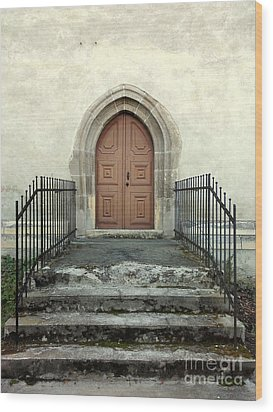The Fortress Church's Side Door  Wood Print