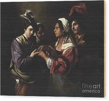 The Fortune Teller Wood Print by Bartolomeo Manfredi